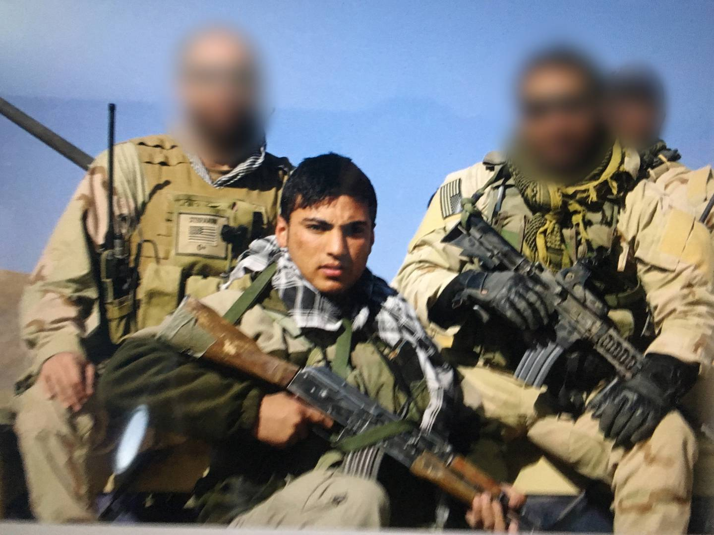 Spartacus, an Afghan interpreter who worked with Rep. Michael Waltz.