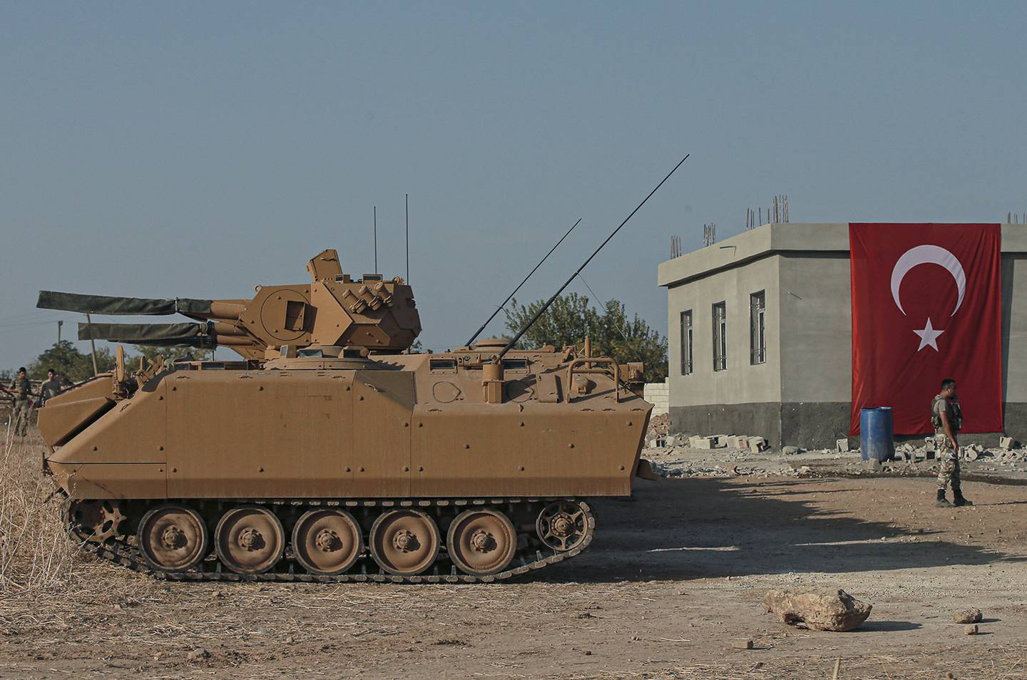 Turkish army personnel carriers
