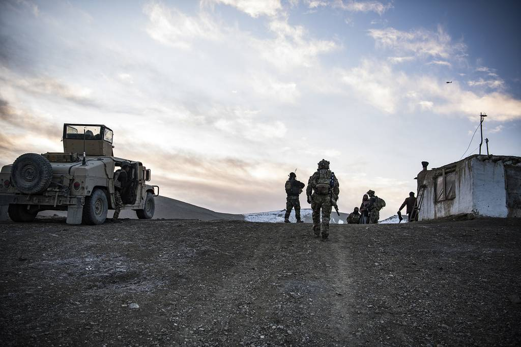 U.S. Special Forces and Afghan Special security forces work and train together in eastern Afghanistan, winter 2019- 2020.