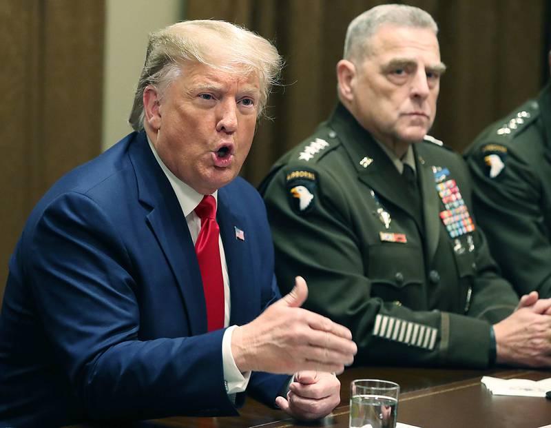 President Donald Trump, Gen. Mark Milley