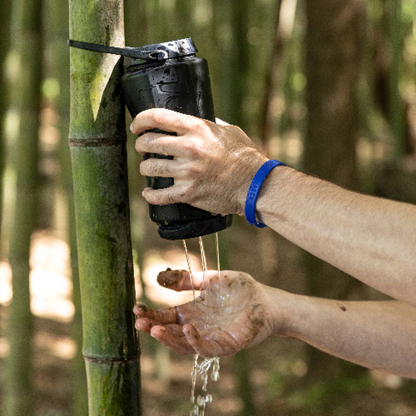 Wash hands with MODL water filter