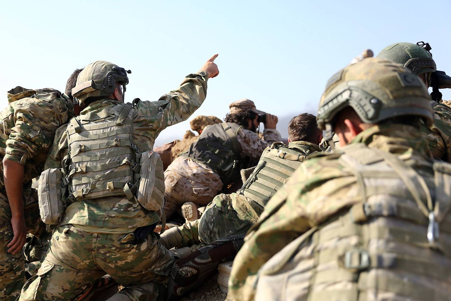 Turkish troops and Turkish-backed Syrian rebels