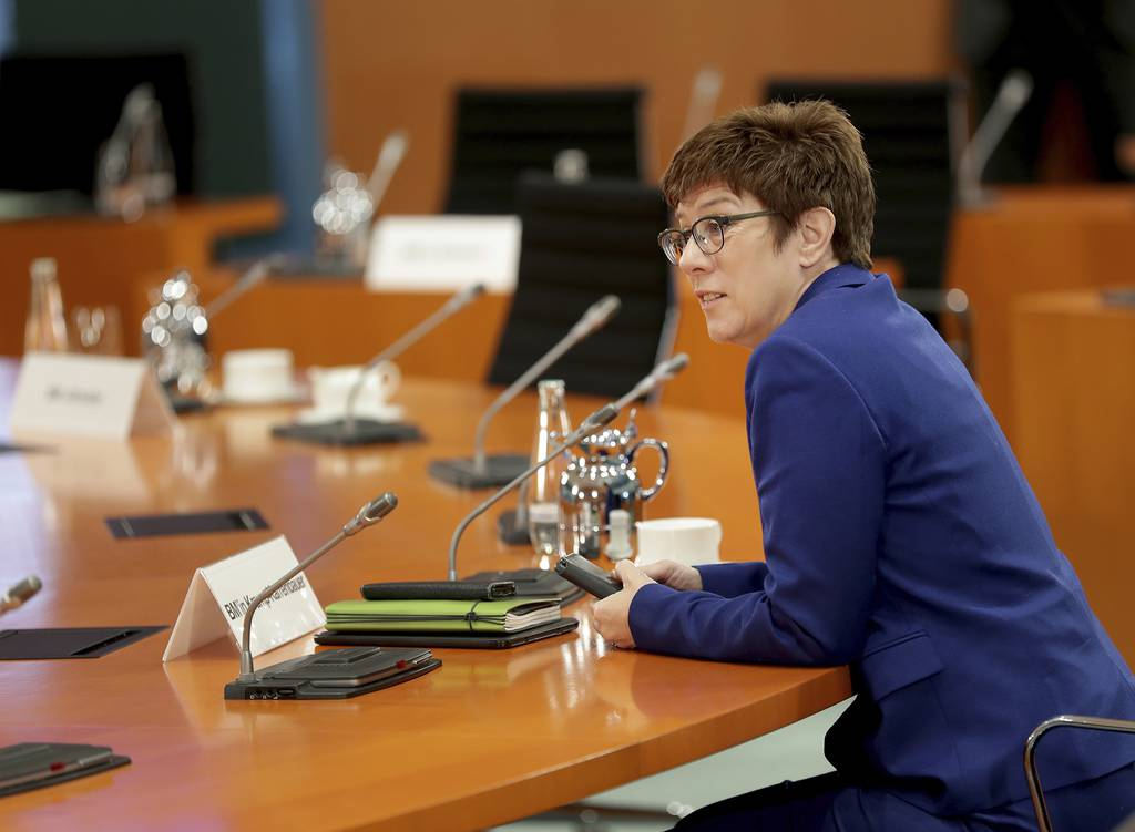 German Defence Minister Annegret Kramp-Karrenbauer