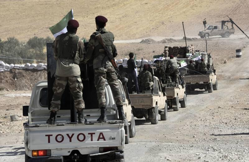 Turkey-backed FSA fighters