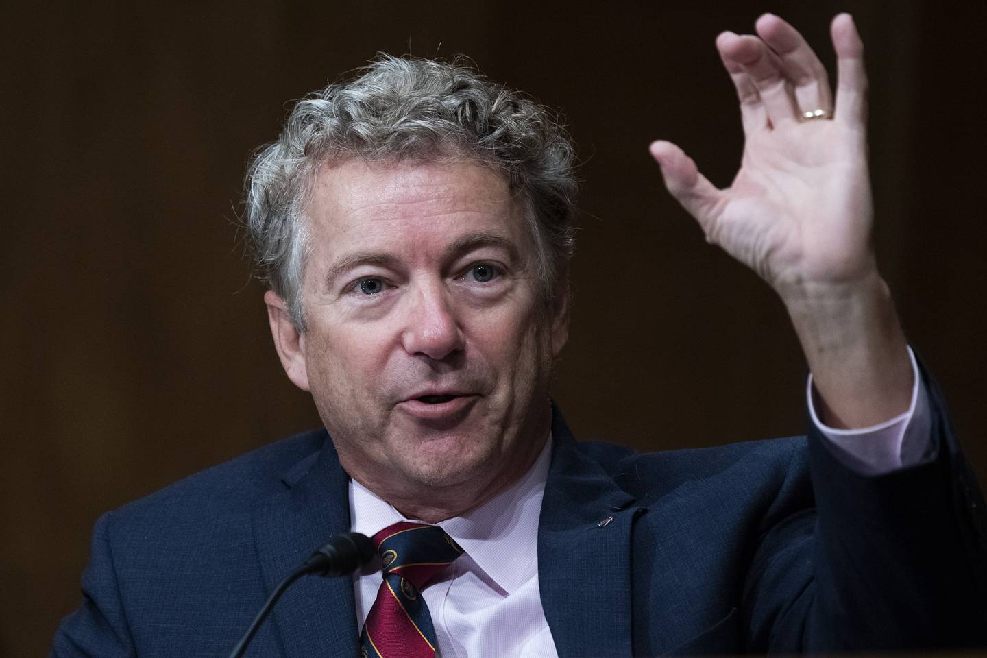 In this Sept. 24, 2020, file photo, Sen. Rand Paul, R-Ky., speaks during a Senate Homeland Security and Governmental Affairs Committee hearing on Capitol Hill in Washington.