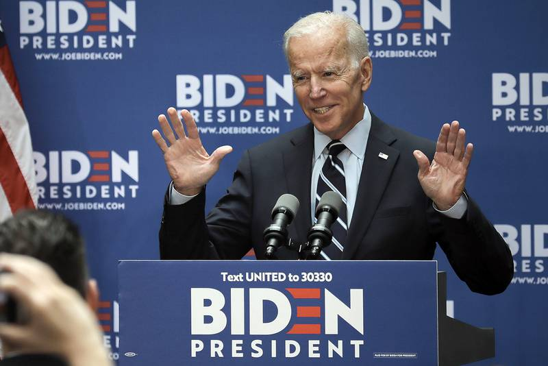 Democratic presidential candidate former Vice President Joe Biden speaks about foreign policy at The Graduate Center at CUNY, Thursday July 11, 2019, in New York.