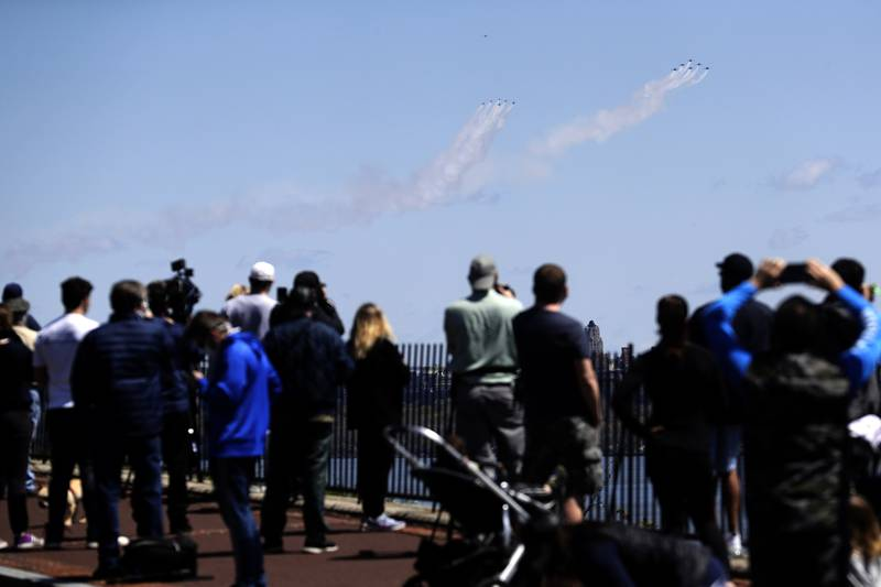Blue Angels, Thunderbirds, New York City flyover, tribute to first responders