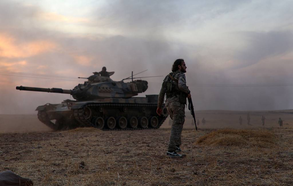 Turkey-backed Syrian fighters