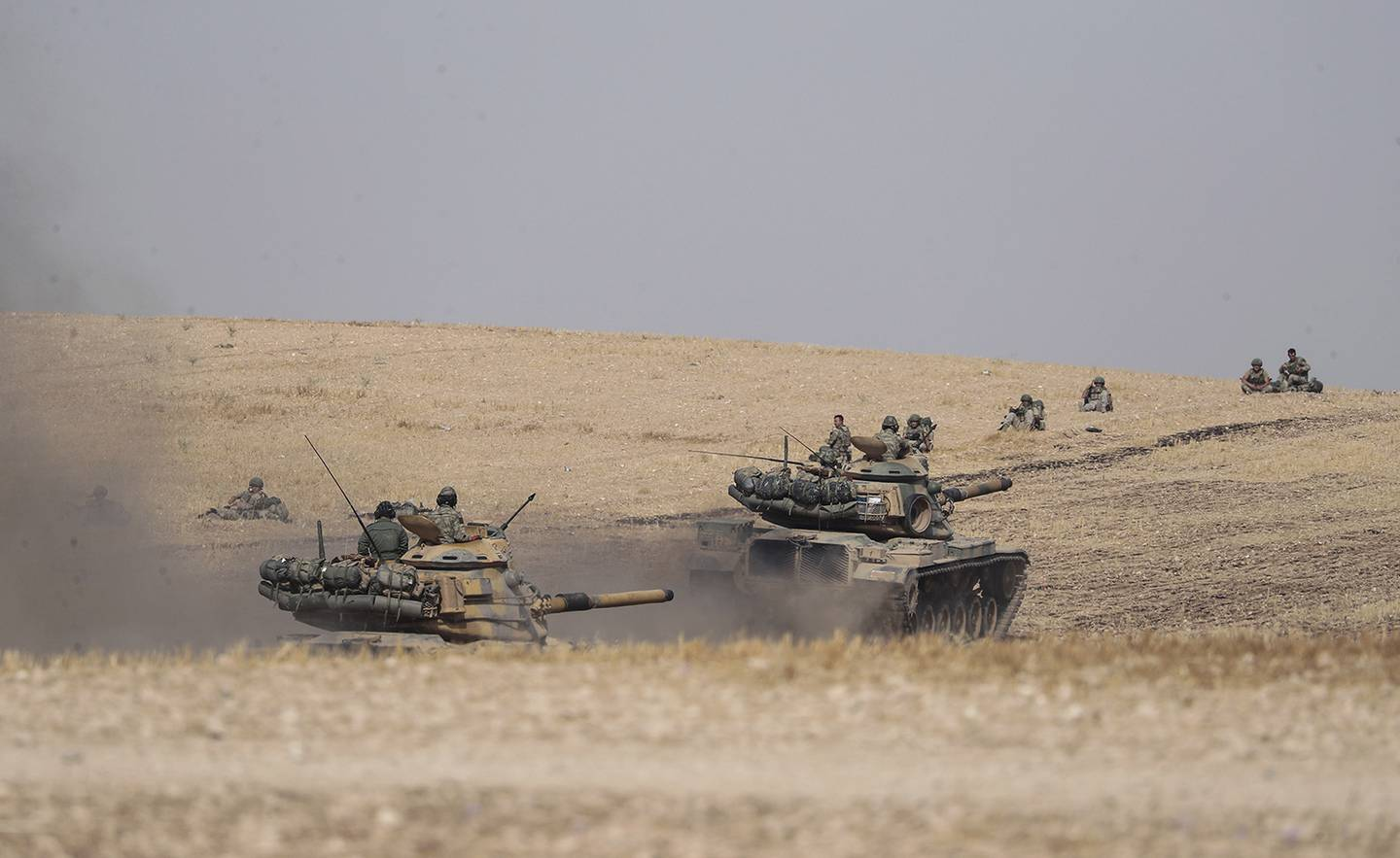 Turkish tanks and troops