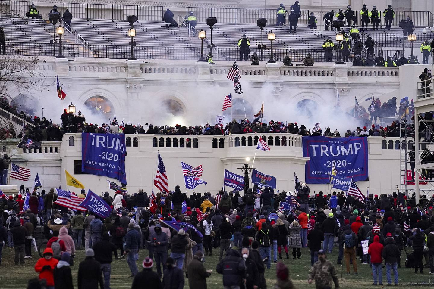 In this Jan. 6, 2021, file photo, violent protesters loyal to President Donald Trump storm the Capitol in Washington.