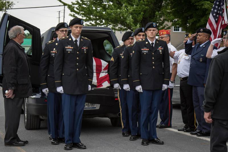 Members of the 10th Mountain Division and the 10th Combat Aviation Brigade participated in Oakes' military funeral on June 1, 2019.