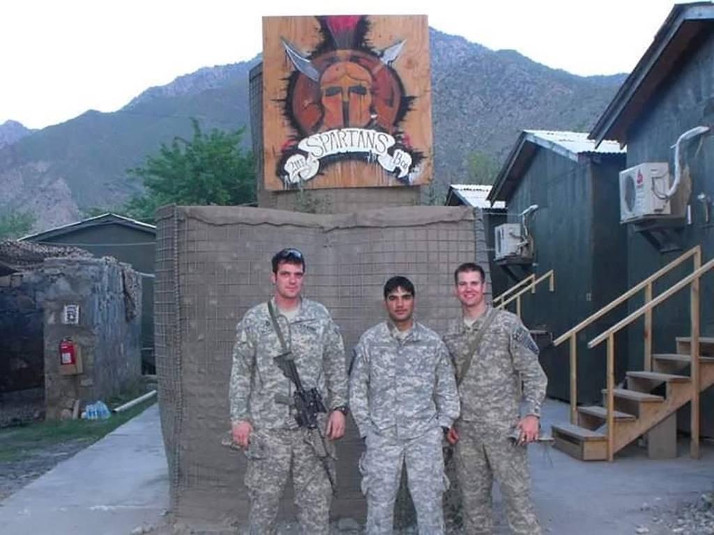 "From left: Pat Flanagan, Nasirullah ""John"" Safi, and Lt. Cris Gasperini."