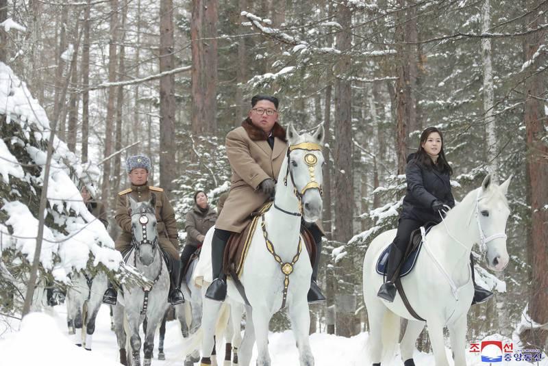 Kim Jong Un, Mount Paektu