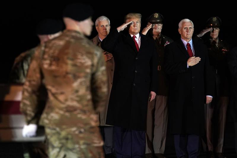 Trump, Pence, Dover AFB