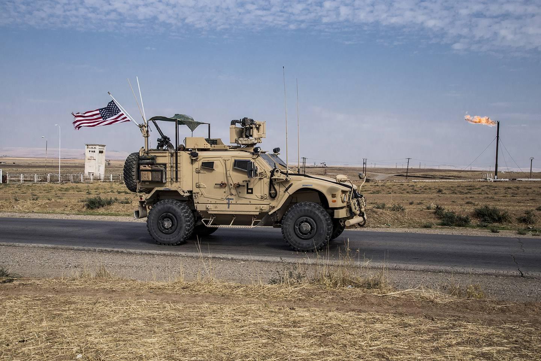 U.S. forces patrol Syrian oil fields