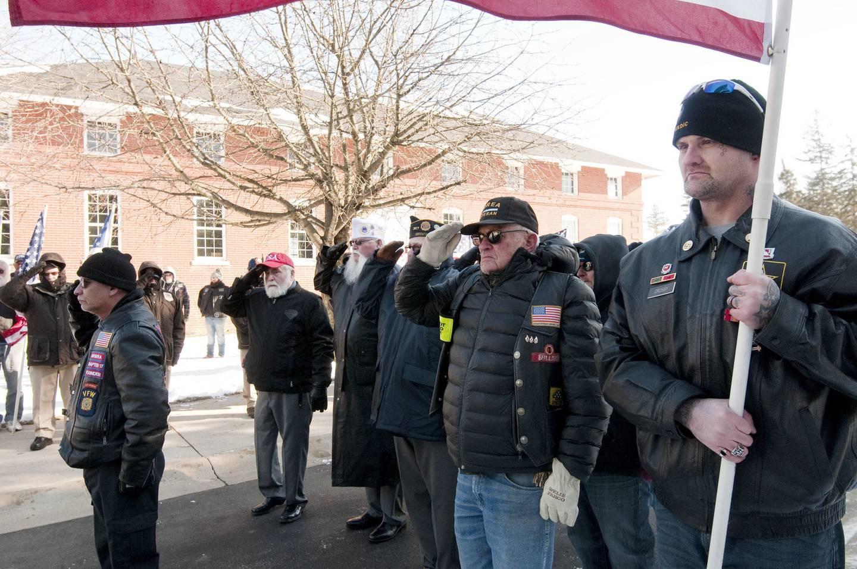 Patriot Guard and VFW members