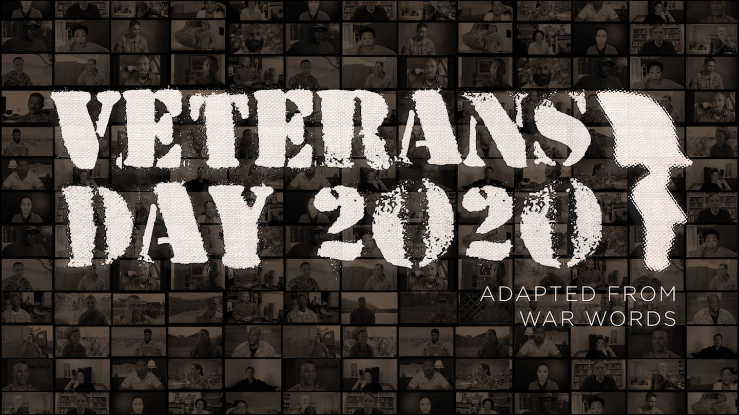 """""""Veterans Day 2020,"""" a film adapted from the play """"War Words,"""" premieres on Veterans Day, 2020."""