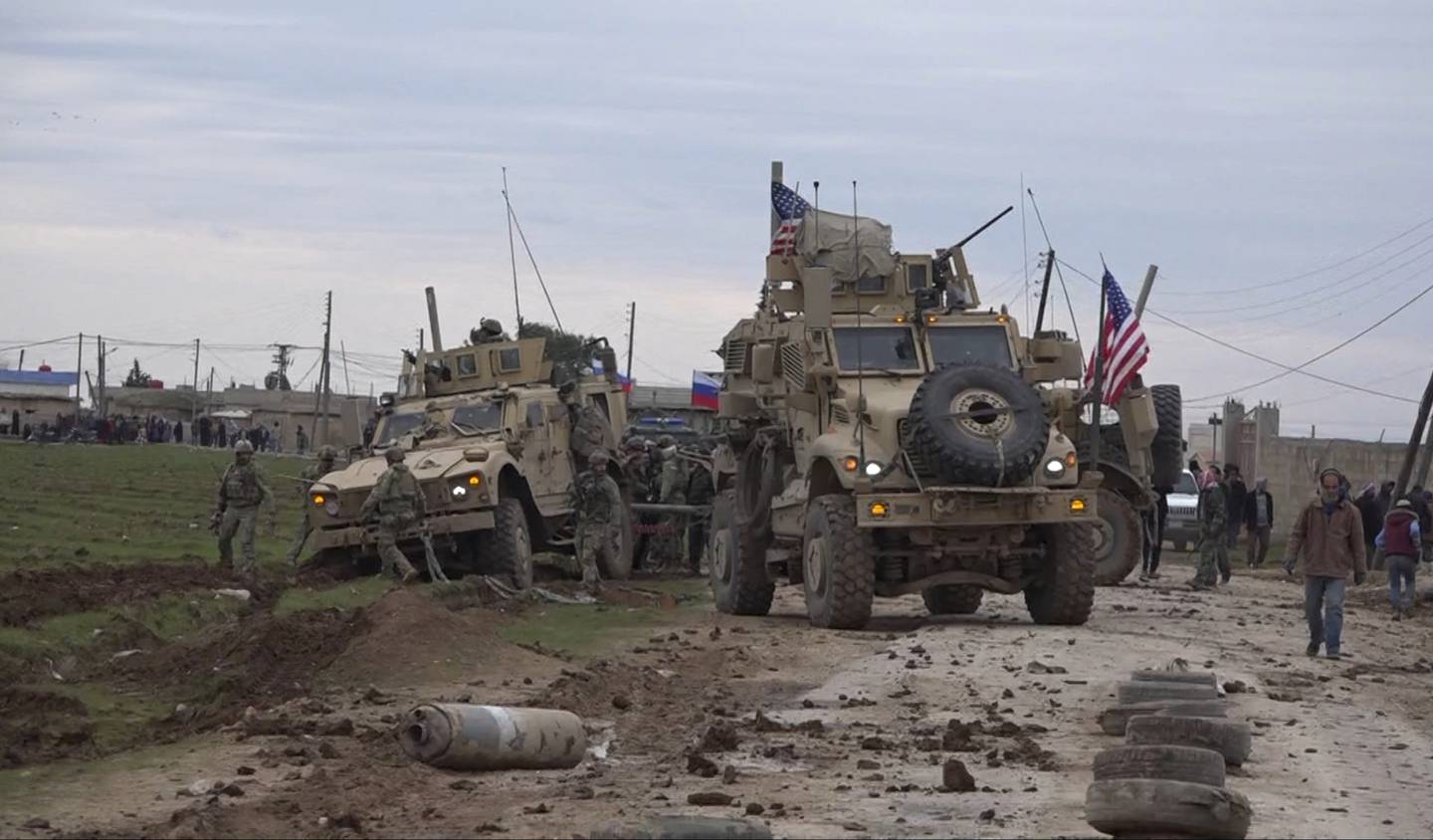 American military convoy in Syria