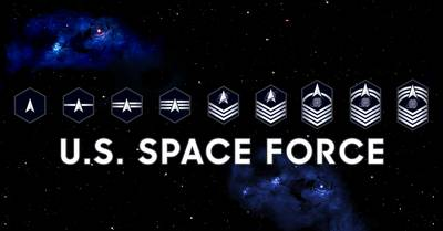 The Space Force offered a look at its new enlisted insignia on Sept. 20, 2021, with designs that pay tribute to military space heritage and cosmic inspiration. Photo via Facebook.