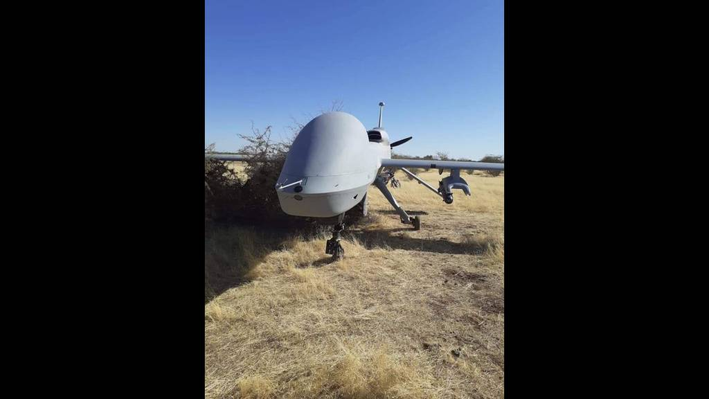When asked about this photo, of an MQ-1C Gray Eagle drone, apparently armed with a Hellfire missile, on the ground in Niger, AFRICOM officials said one of their drones malfunctioned in the area.