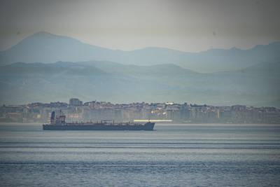A view of the vessel the Clavel sailing on international waters crossing the Gibraltar stretch on Wednesday, May 20, 2020.