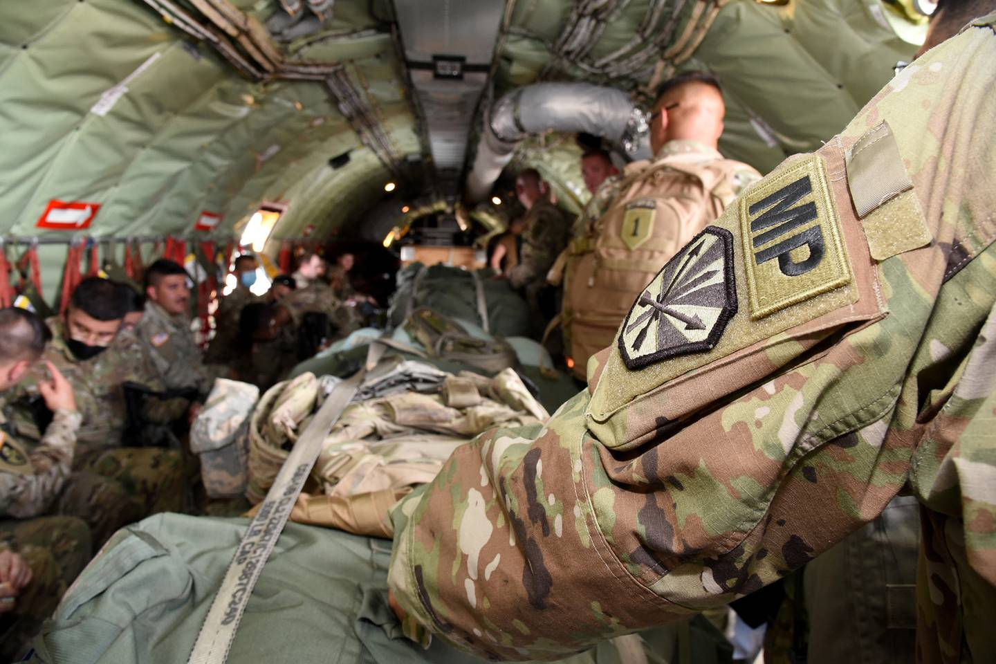 Approximately 150 Arizona National Guard soldiers from the 850th Military Police Battalion mobilized to Wisconsin in response to an Emergency Management Assistance Compact request Aug. 28, 2020.