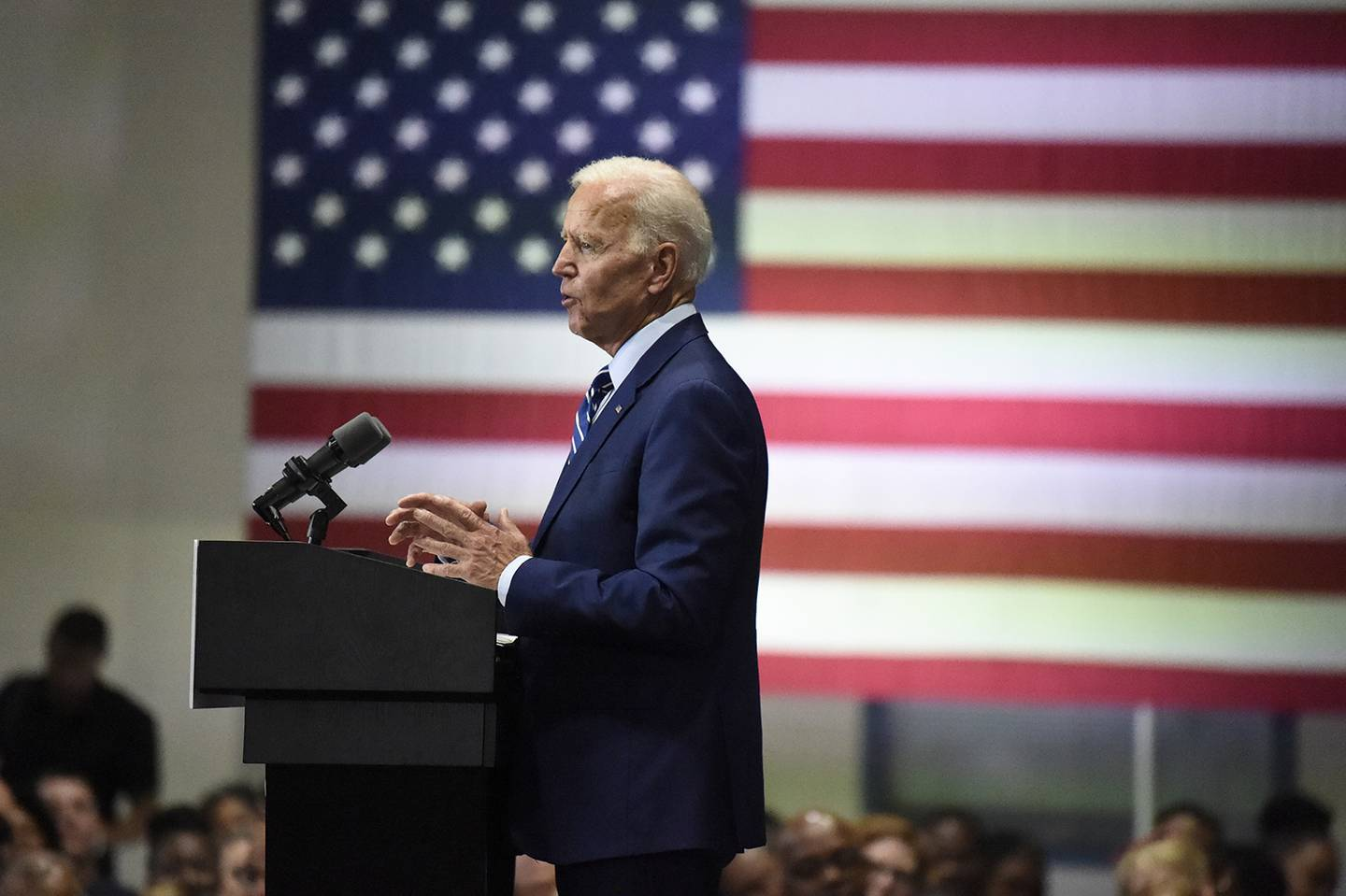 Democratic presidential candidate and former vice President Joe Biden speaks at a campaign event in Sumter, S.C, on July 6, 2019.