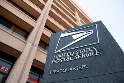 The headquarters of the United States Postal Service (USPS) is seen in Washington on Aug. 18, 2020. (Saul Loeb/AFP via Getty Images)