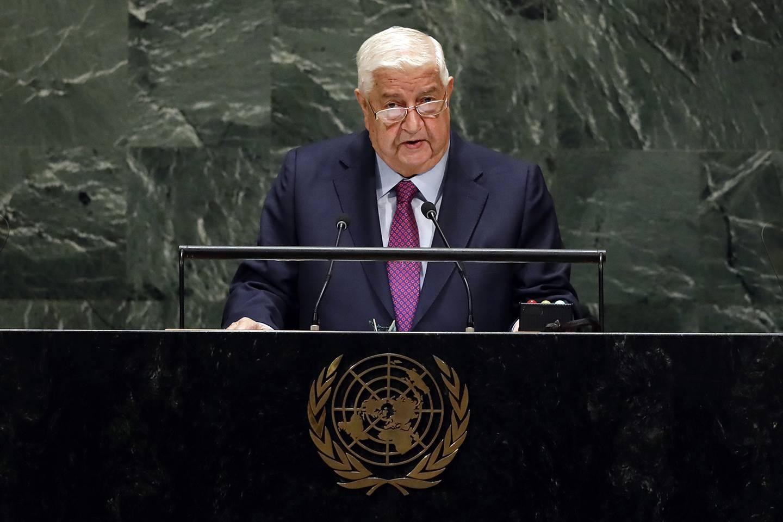 Syria's Deputy Prime Minister Walid Al-Moualem