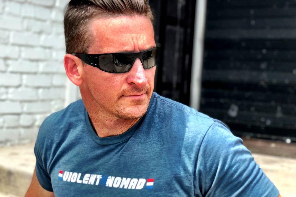 Clint Emerson in Gatorz Magnum sunglasses