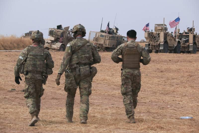 American military convoy
