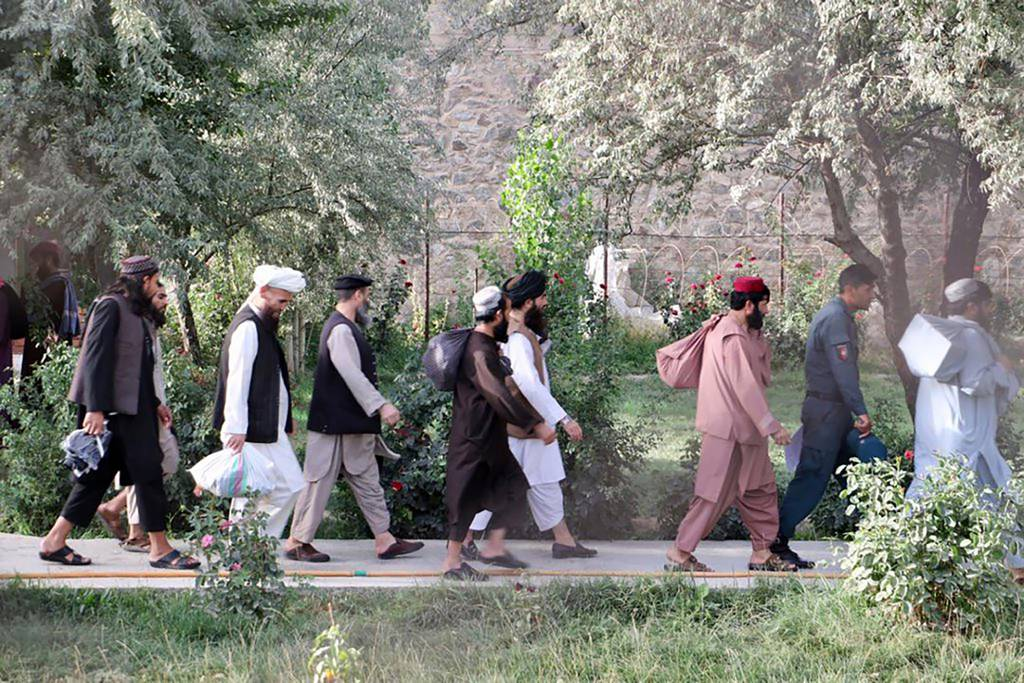Taliban prisoners are released from Pul-e-Charkhi jail in Kabul, Afghanistan, Thursday, Aug. 13, 2020.