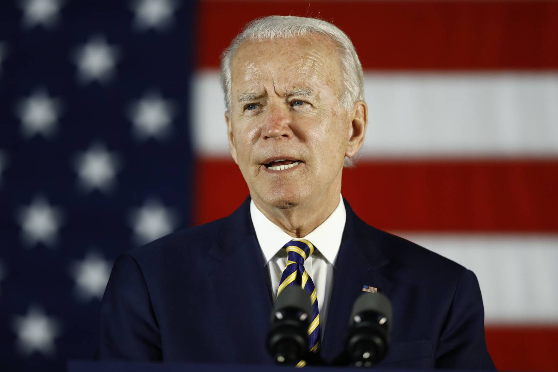 In this June 17, 2020, file photo, Democratic presidential candidate, former Vice President Joe Biden speaks in Darby, Pa.